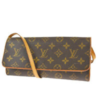 Auth LOUIS VUITTON Pochette Twin GM 2Way Shoulder Bag Monogram BN M51852 39MG327