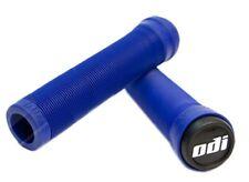 NEW ODI Longneck Flangeless Super Soft Bike Bicycle Grips Blue