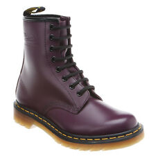 Women's Dr Martens 1460 Womens 8 Eye LaceUp Boot Purple Smooth R11821500