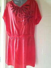 New M&S Limited COLLECTION Red Dress Tunic Top SEQUINS SIZE 12