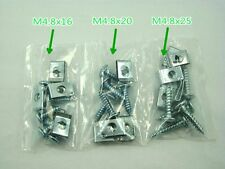 M4.8 30 PIECE SCREW SET WITH U CLIPS FOR CHINESE SCOOTERS, ATVS AND KARTS
