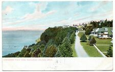 MACINAC ISLAND,MICHIGAN,COTTAGES ON WEST END IN 1908 POSTCARD