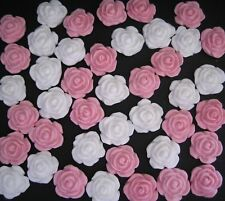 40 Edible Mini Roses WEDDING BIRTHDAY CAKE CUPCAKE TOPPERS