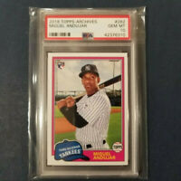 2018 Topps Archives #282 MIGUEL ANDUJAR RC Yankees Rookie PSA 10 Gem Mint