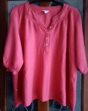 Being Causal Ladies Size 28 Dark Pink Blouse Top.