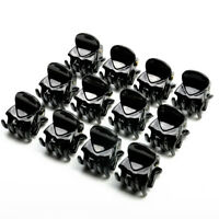 12X Black Plastic Mini Hairpin 6 Claws Hair Clip Clamp For Baby Girls Hair Tools