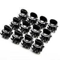 Women Ladies 12Pcs/Set Cute Black Plastic Mini Hairpin 6 Claws Hair Clip Clamp