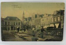 Netherlands Purmerend Market Place Marche De Kaasmarkt Postcard Dutch VTG 1910