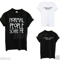 Fashion Women Girl's T-Shirt Letter Print Tee Tops Summer Style Casual Blouses