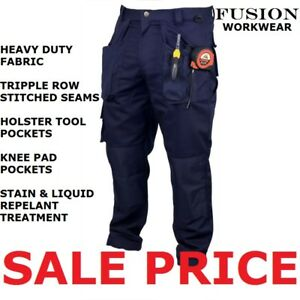 TRADESMAN WORK TROUSERS.KNEE PADS.TOOL POCKET,SNICKERS,APACHE,TUFF,CLICK