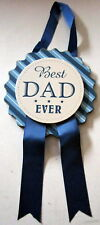 """""""BEST DAD EVER"""" HANGING BADGE STYLE PLAQUE SIGN CUTE CHRISTMAS GIFT BRAND NEW"""