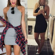 Women Summer Sexy Sleeveless Bandage Bodycon Sundress Evening Party Mini Dresses