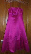 David's Bridal 4 Bridesmaid Dress Pink Tea Length Tulle Formal Prom Gown