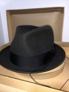 Vintage Champ Fedora Hat Marion, IN Felt Kasmir Amish Size 7 1/4