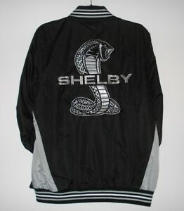 Ford Shelby Racing Black Embroidered Nylon Jacket New JH Design  3XL