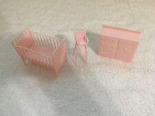 MPC Pink Baby Room Vintage Dollhouse Furniture Renewal Plastic