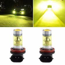 1 Pair 100W High Power H11/H8 20 LED Fog Light 3030 Yellow Driving Bulb 9-30V