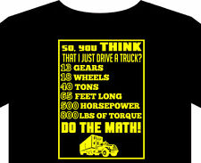 T shirt up to 5XL do the math trucker daf truck