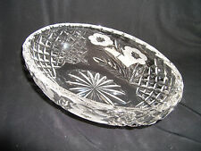 Cut Glass style Glass Dish Ref 547