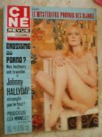 CINE REVUE NO 6-02/1976-JOHNNY HALLYDAY-F.FABIAN-DIVERS--FILMS-POSTER-VOIR