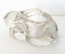 Indiana Glass Collectible Rabbit Heavy Clear Glass Paperweight Tealite Or Votive