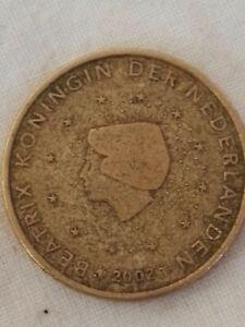 moneta 50 euro cent 2002 BEATRIX KONINGIN DER NEDERLANDEN Beatrice regina Olanda