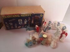 Vintage Accents Unlimited Wee Crafts Traditional14 Piece Nativity Ready to Paint
