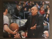 Lenny Wilkens Autograph 8x10 Signed Photo w/ Beckett COA NBA HOF Atlanta Hawks