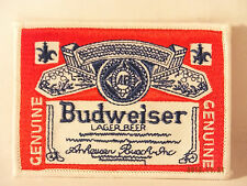 BUDWEISER BUD  BEER EMBROIDERED IRON-ON PATCH
