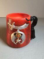 Rare Vintage Relpo Masonic Vase Planter 6825 Vibrant Color Masons