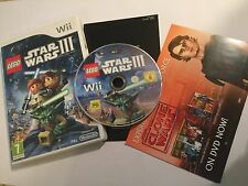 NINTENDO Wii Video Juego Videojuego Lego Star Wars Iii The Clone Wars Complete PAL