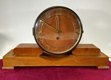 Vtg 1940s-50s German Time Only Mantle Clock Unsigned Needs Click Spring