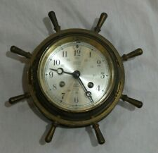 Vintage Salem Clock Co. Bronze 8 Day Jeweled Ship's Clock