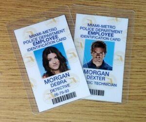 Dexter ID Badge-Forensics Examiner Morgan Dexter & Debra Set(2) costume cosplay