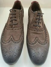 Women's Paul Smith, Men Only,  brown suede Miller brogue shoes, size 38, new