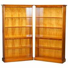 LOVELY MATCHING PAIR OF BRADLEY LIBRARY BOOKCASES WITH HEIGHT ADJUSTABLE SHELVES