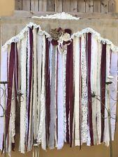 Burlap Wedding Backdrop Burgundy Garland Reception Lace Party Rustic Shabby