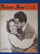 Picture Show Magazine - 22/3/1952 - John Derek & Donna Reed Cover