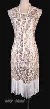 1920's Flapper Clubwear Great Gatsby Abbey Sequin Tassel Plus Size Dress AF 3239