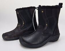 New Keen Women's Brown/Black Leather Boots Sz 6.5