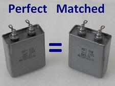 2x Matched MBGT 4uF 160V <Military Grade> PIO Capacitors Made in USSR