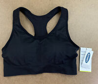Old Navy Women's Size Medium Black Light Support Seamless Racerback Sports Bra