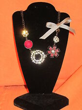 SIMPLY VERA WANG NWT $34 women's necklace raspberry pink floral