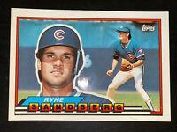 1989 Topps Big baseball Ryne Sandberg  card #212. Chicago Cubs. HOF Free Ship