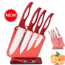 Zirconia Red Handle Ceramic Knife with Holder Kitchen Set Peeler Kitchen Knives