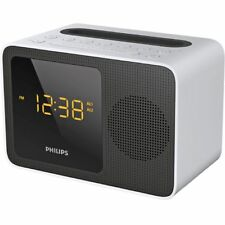 Philips Digital Clock Radio with Bluetooth White