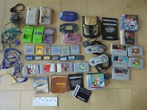 Lot Nintendo Game boy Manette Nintendo 64 Jeux super Nintendo Zelda Super Mario