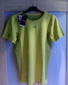 Diadora Lads Mens T-shirt Compression Top Muscle Fit Workout Gym