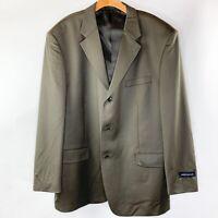 Jones New York Mens Cooper Taupe Brown Notch Naples Blazer Jacket Size 46