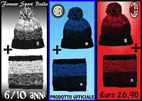 CAPPELLO + SCALDACOLLO UFFICIALE BAMBINO 6/10 anni JUVENTUS - MILAN - INTER